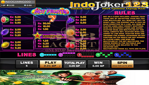 Game Slot Hot Fruits Game Terbaru Situs Joker123